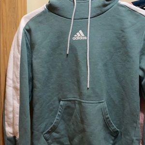 greenish blue addias hoodie